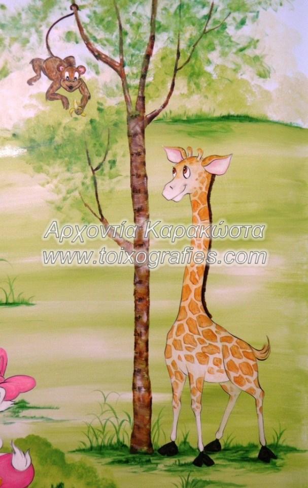 ζωγραφική παιδικών δωματίων, παιδική τοιχογραφία Disney Looney