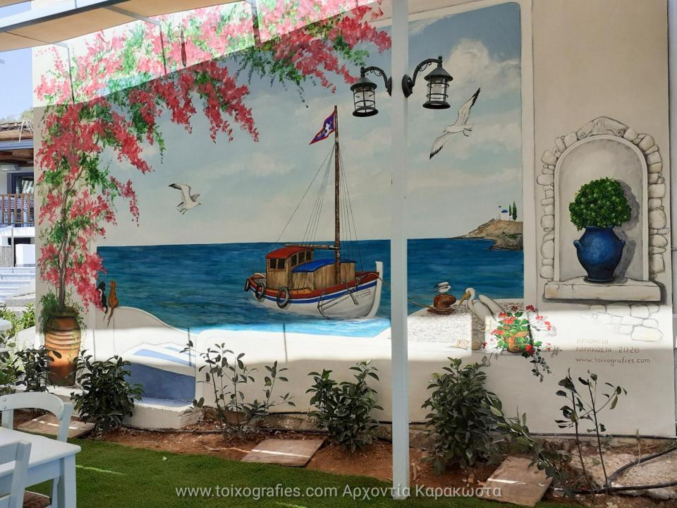 τοιχογραφίες τεχνοτροπίες ζωγραφική παιδικων δωματιων